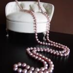 Sautoir Perles d'eau douce parme